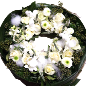 Classic Funeral Wreath by Ludo Annaert | Florale Vormgeving