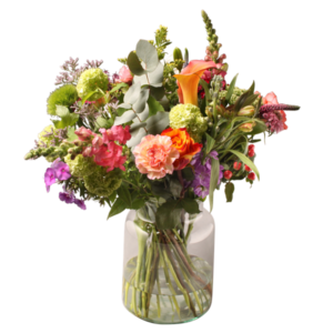 Ecology Bouquet (with vase) by Ludo Annaert | Florale Vormgeving